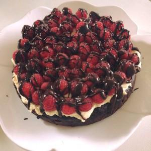 Nizkohidratna malinina tortica brez moke in glutena